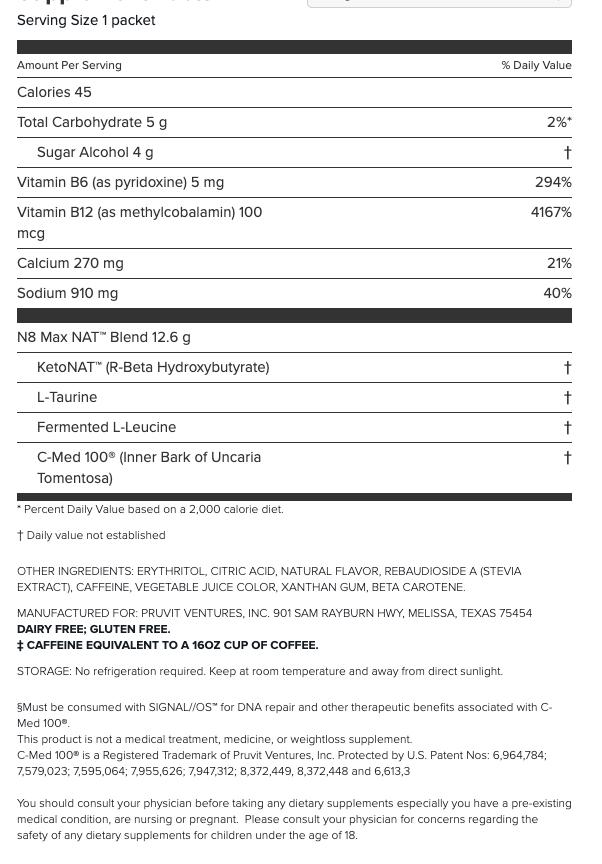 Prüvit Sample 3 pruvit Malaysia Nutritional Fact b9905627b9f75186494a244e1a326c5a